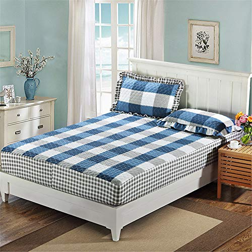 huyiming Gebruikt forTwill schuren dikke gewatteerde bed cover katoen anti-slip bescherming matras dekbedovertrek