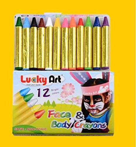 Crayones de acuarela-12 colores, lavables, no tóxicos, crayones, esponjas, papel de cera y pinceles, kit de abrigo completo para niños con una variedad de...