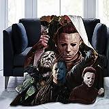 Drew Newton WSMXZDH Super Warm All Season Premium Bed Blanket Michael Myers Fleece Throw Sofa Couch Bed 50'x40'