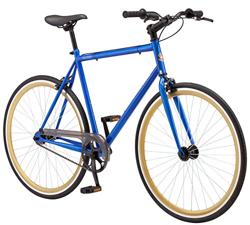 Schwinn Kedzie Single-Speed Fixie Bike, Featuring 58cm/Large Steel Stand-Over Frame with 700c Wheels and Flip-Flop Hub, Perfect for Urban Commuting and City Riding, Blue