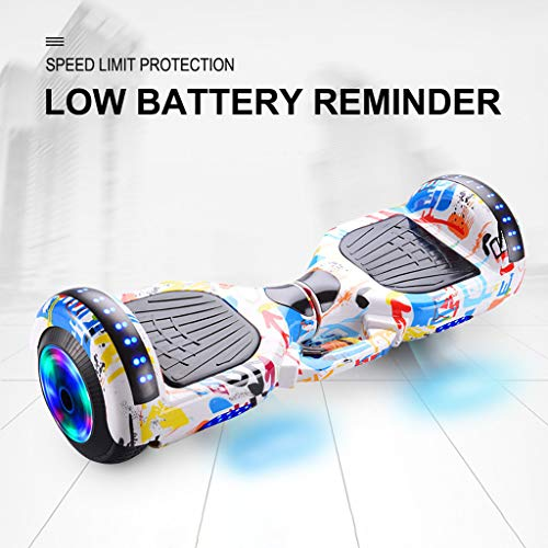 Eariy Hoverboards Self-Balancing Scooter,2-Rad Mini Hover Board,Skateboard mit Bluetooth Lautsprecher,LED Lights Elektro Scooter,Geschenk für Kinder,Jugendliche,Erwachsene