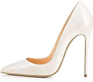 8ef2d4aa87e58a LXD Talons hauts confortables pour femmes de grande taille pointues  Stiletto Chaussures simples Chaussures de dames