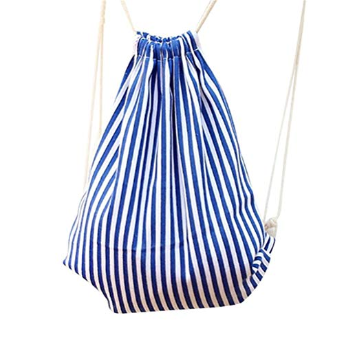 VHVCX Zufälliger Streifen-Muster Tragetasche für Männer Frauen Weiblich Einfache Patchwork-Rucksack Einkaufstasche Daypack, A