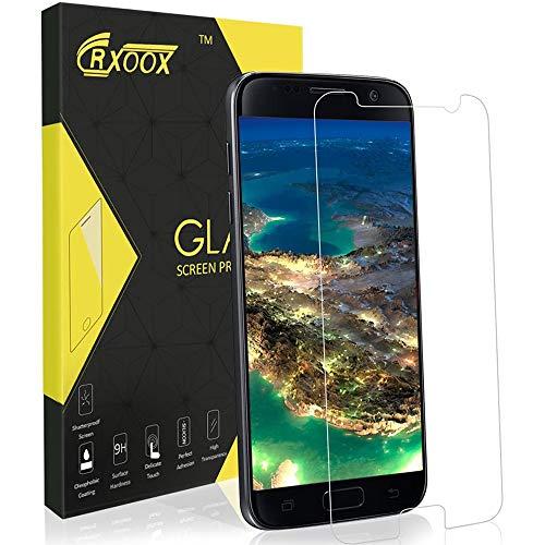 CRXOOX Verre Trempé pour Samsung Galaxy S7, [3 Pièces] Film de Protection d'Écran Verre Trempé Transparent, 3D Touch Compatible et Dureté de 9H, Installation Facile sans Bulles pour Samsung Galaxy S7