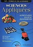 Sciences Appliquées - Cap - Prof - Maj 2011 by Jf. Augez Sartral (2011-01-01) - Editions Bpi - 01/01/2011