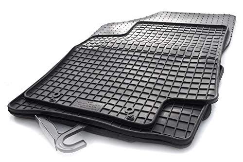 kh Teile Gummimatten passend für Hyundai i20 / i20 Hybrid (ab 2020) Gummi Fußmatten Original Qualität, Schwarz, 4-teilig