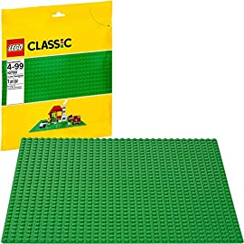 LEGO Classic Green Baseplate 2304 Supplement for Building, Playing, and Displaying Creations, 10in x 10in, Large… 10 The possibilities are limitless with this LEGO Classic Green Baseplate Build, play, and display all of your favorite LEGO creations with this accessory This large building baseplate is a great and useful addition to your LEGO collection The construction board easily fit on top of tables for creative building for kids and adults A great supplement to any LEGO collection to keep your LEGOs organized as your build your favorite sets and figures Once you are done, use the baseplate mat to display your creation