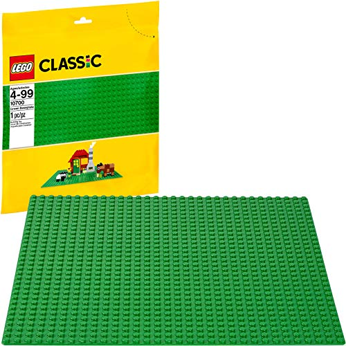 LEGO Classic Green Baseplate 2304 Supplement for Building, Playing, and Displaying LEGO Creations, 10in x 10in, Large Building Base Accessory for Kids and Adults (1 Piece)