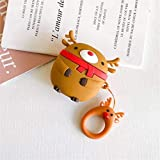 weichuang Headphone box protective cover Christmas For Airpods Case Cover Silicone Cartoon for Apple AirPods Cover earphone Accessories for i500 i100 tws airpods clone Headphone box protective cover