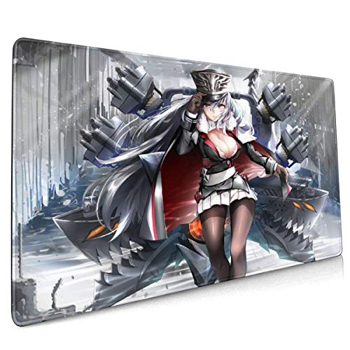 Azur Lane Office,Study,Desk Mat,Shopping,Gaming Mouse Pad,Stitched Edges,Oversized Non-Slip Rubber,Extended Game Racing Mouse Pad 40 X 90 cm (15.8x35.5 Inches)
