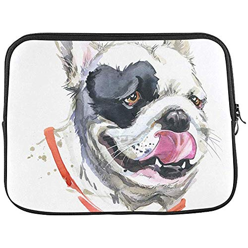 Kiss French Bulldog T Shirt Graphics Sleeve Zachte Laptop Case Tas Buidelzak