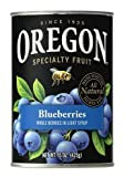 Oregon Fruit Products, Canned Fruits, 15oz Can (Pack of 3) (Choose Fruit Below) (Blueberries in Light Syrup) by Oregon