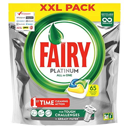 Fairy Platinum Spülmaschinentabs All-In-One 65 Kapseln - Zitrone Lemon Geschirrspültabs