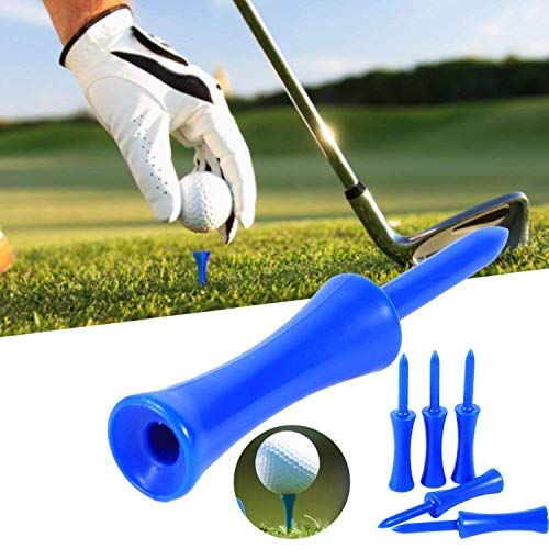 Jeantet Sport Plastic Golf Tees Tee Step Down Value 60 Count, 2 3/4, 2 1/4, 2,1 3/4,1 1/2, 1 1/4 inch Set, Professional Height Control For Practice Color Blue Pink White (Blue- 1 1/2''-60 Tees, Blue)
