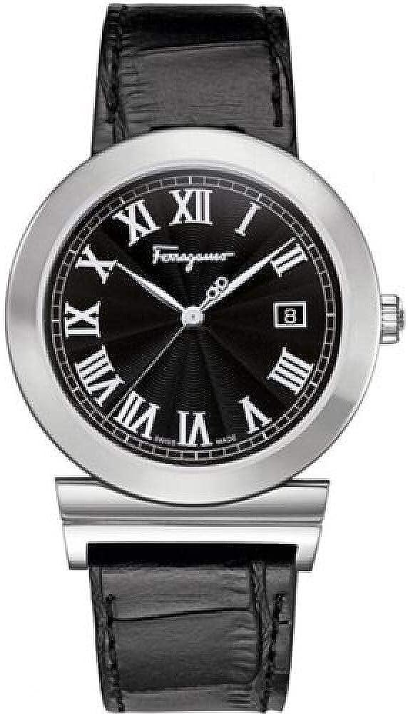 Salvatore ferragamo,orologio unisex,cassa acciaio e cinturino in vera pelle F71LBQ9909