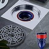 One Way Valve for Pipes Tubes in Bathroom Floor Drain Backflow Preventer Patented Floor Drain Seal (DIA:30-37MM DEPTH:110MM)