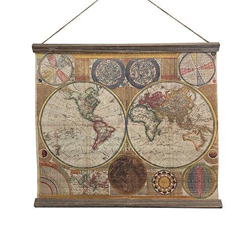 zeitzone Schulwandkarte Weltkarte A General Map of The World Nostalgie Wandbild 53x60cm