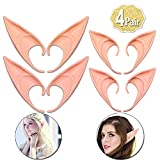 AniSqui Elf Ears Cosplay 12cm & 10cm, (4 Coppie in Lattice Orecchie da Elfo Fata), Orecchie di Elfo Cosplay, Orecchie di Fata Folletto
