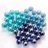 TtTt 20 bolas de vidrio de 16 mm para ganado pequeños mármoles juego de pinball de consola de bolas de rebote (color 20 piezas al azar)