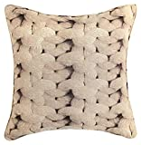 Nimsay Home Tiffany - Funda de cojín cuadrada de lana estampada (45,72 x 45,72 cm)