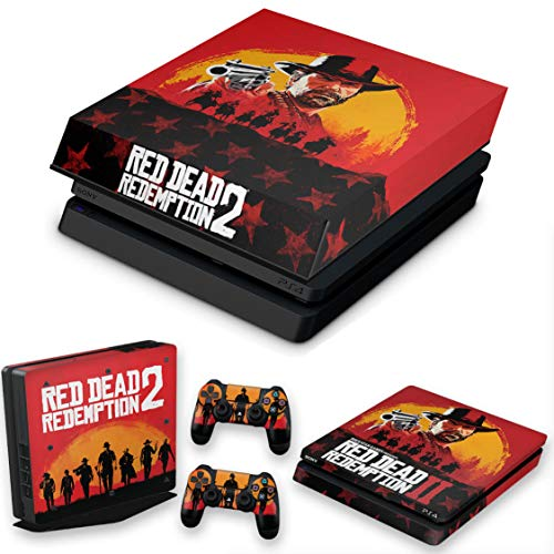 Capa Anti Poeira e Skin para PS4 Slim - Red Dead Redemption 2