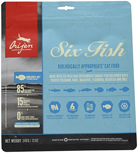 Orijen Six Fish - Cibo per Gatti, 340 g