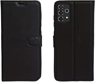 Kaiyue Flip Leather Case Cover Camera Protection For Samsung Galaxy A72 - Black