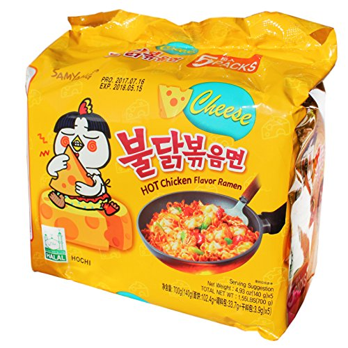 2er Pack (2x700g) Samyang CHEESE Hot Chicken Flavor Ramen Nudeln (Papa Vo®)