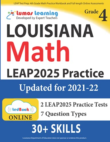 Leap Test Prep 4th Grade Math Practice Workbook And Full Length Online Assessments Leap Study Guide