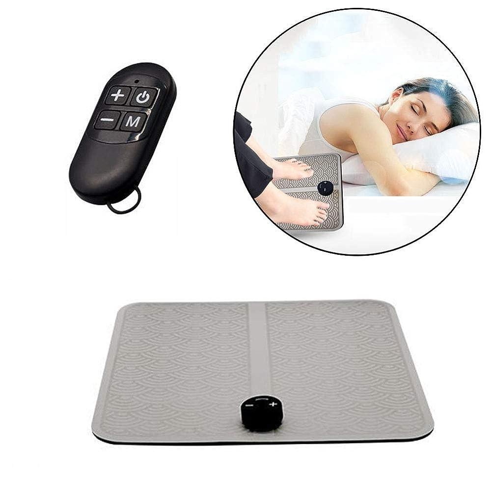 いたずら満了仲間USBフットマッサージャー(EMS)電磁的に充電可能な筋肉刺激による痛みの緩和、ワイヤレス血液循環の改善、足の疲労の緩和