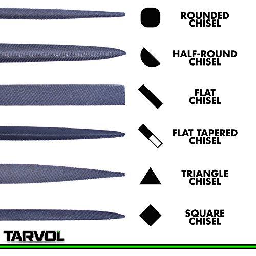 Product Image 3: Needle File Set (HIGHEST QUALITY 6 PIECE SET) Hardened Alloy Strength Steel – Mini Needle File Set Includes Flat, Flat Warding, Square, Triangular, Round, and Half-Round File.