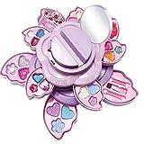 XinLuMing Niños Maquillaje Juguete Cosmético Juguete Conjunto Niña Play Casa Lavable Princesa Maquillaje Rotación Caja de Flor, Maquillaje Juego Juego Regalos para Niños (Color : Multi-Colored)