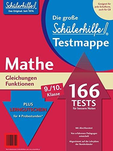 Testmappe Mathe Gleichungen/Funktionen (Kl. 9.-10.)