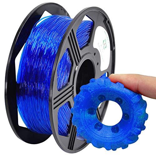 YOYI 3D Printer Filament,TPU Flexible Filament 1.75mm 0.8kg Spool Dimensional Accuracy +/- 0.03 mm,100% Europe Raw Material(blue)