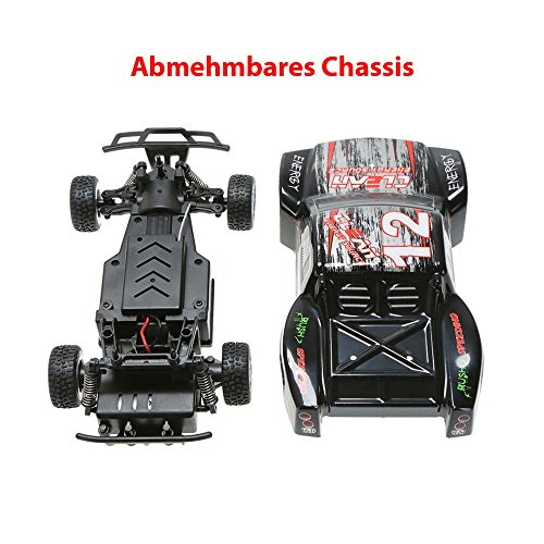 HSP Himoto 1:24 Off-Road 2WD Mini RC ferngesteuertes High Speed Short Course Monstertruck Buggy, 2.4GHz Digital vollproportionale Steuerung Top-Speed bis zu 25 km/h, Komplett-Set RTR