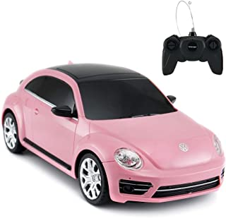 Radio Remote Control 1/24 Scale Volkswagen Beetle Licensed RC Model Car (Pink)