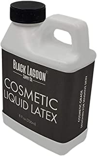 Cosmetic FX Liquid Latex 8 oz jug - Developed for Sensitive Skin - Dries Clear! Special Effects Makeup Latex