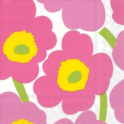 Ideal Home Range Marimekko Unikko tovaglioli, Carta, Light Pink, Lunch