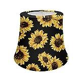 BIGCARJOB Sunflower Designs Yellow Sunflower Boho Floral Lamp Shade - Farmhouse Flower Table Lamp Floor Lamp,Livingroom Bedroom Decorative Shade,Small