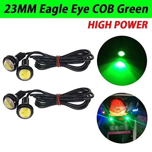 TABEN - Lampadine rotonde a LED per auto, colore bianco, 23 mm, ad alta potenza, 9 W, luci di marcia diurne o di retromarcia, 12 V, confezione da 2