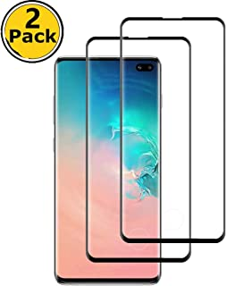 [Full Adhesive 2 Pack] Galaxy s10 Screen Protector Tempered Glass with Anti-Fingerprint [Finger Print Compatible][Bubble Free] [9H Hardness]HD Screen Protector Film for Samsung Galaxy S10