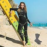Ladies Diving Suit, 3Mm Thick Warm Snorkeling Suit, Neoprene, Free Diving Socks, Suitable For Various Water Sports,Black,XXL