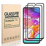 MUNDDY Pack of 2 Protectores de Pantalla Completa para Samsung Galaxy A70 de Dureza de 9H sin...