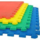 CosySpace Foam Play Mat - 1.2cm Thick Soft EVA Interlocking Foam Floor Mats Children Yoga Exercise Multi Colour Jigsaw Puzzle Blocking Board Kids Playmats Tiles Foam Play