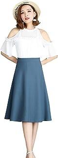 [クルーズライン] 裏地付き フレア スカート 膝丈 Aライン 台形スカート オフィス カジュアル ビジネス 通勤 レディース C29