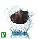 Black Facemask Size Medium - Unisex Protective Washable & Reusable Facemasks, Durable Built-in Multi-Filters face mask, General use mask for men women adult, fabric cotton polyester mask