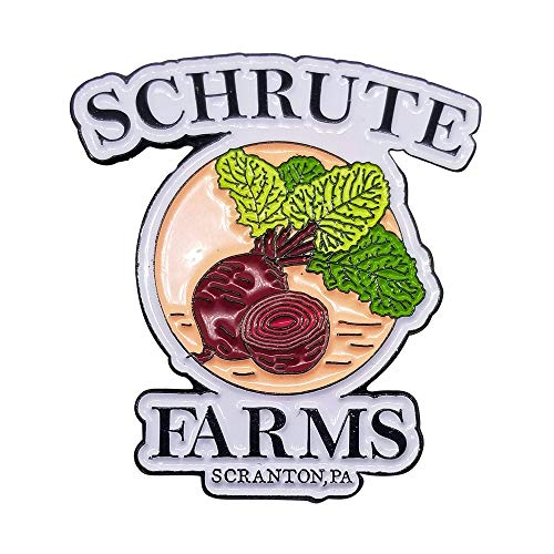 Stickeroonie Schrute Farms Beets Enamel Lapel Pin - The Office, 1.25 Inches- Funny Pins for Jackets hat pins backpacks