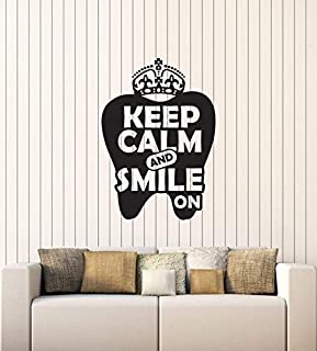 Wall Stickers, Wall Decals, Wall Tattoos, Wall Posters, Wallpaper,Vinyl Applique Dental Stomatology Dentist Office Quotes Interior Mural 40x57CM