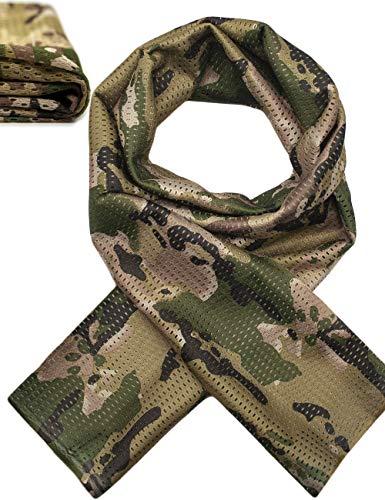 Outdoor Saxx® - Foulard de cou multifonctionnel foulard de tête écharpe bandeau | Camouflage Protection Outdoor Chasse Pêche Military | Tissu en maille filet Camouflage