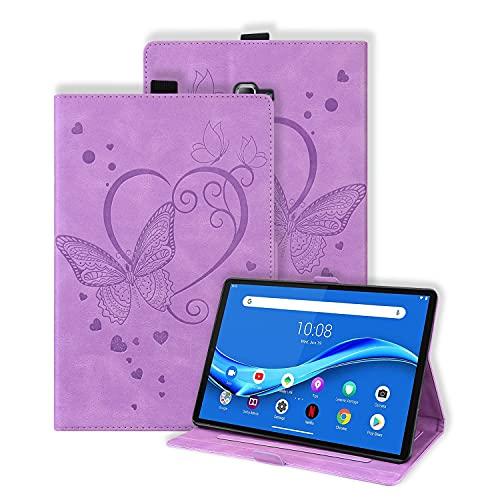 Keikail Funda para Samsung Galaxy Tab A 10,1 2016 (SM-T580 / T585), Funda Protectora de Cuero PU, Cubierta Estuche con Soporte Función Auto-Sueño/Estela, para Galaxy Tab A6 10.1 Pulgadas, Púrpura